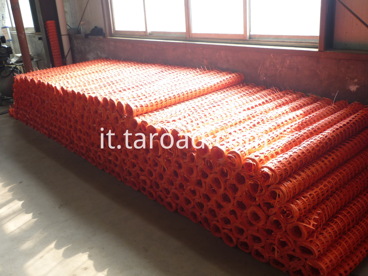 Safety fence netting